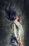 Muchacha del peinado de la manera fotos de archivo libres de regalías