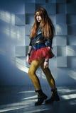 Muchacha del pelirrojo de la moda Foto de archivo libre de regalías