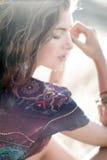 Muchacha del pelo rizado Foto de archivo