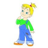 Muchacha del personaje de dibujos animados Gamberro divertido de la muchacha Fotografía de archivo
