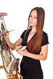 Muchacha del pintor Foto de archivo