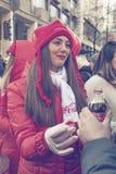 Muchacha 2 del promo de Coca-Cola Imagenes de archivo