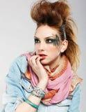 Muchacha del punky de Glam imágenes de archivo libres de regalías