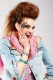 Muchacha del punky de Glam imagenes de archivo