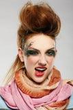 Muchacha del punky de Glam fotos de archivo libres de regalías