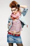 Muchacha del punky de Glam foto de archivo
