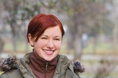 Muchacha del Redhead Imagenes de archivo