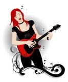 Muchacha del rock-and-roll Foto de archivo libre de regalías