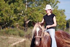 Muchacha del rodeo Imagen de archivo