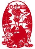 Muchacha del Rowing Foto de archivo libre de regalías