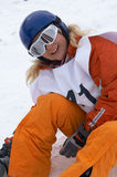 Muchacha del Snowboard fotos de archivo libres de regalías