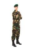 Muchacha del soldado en el uniforme militar Fotos de archivo