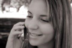 Muchacha del teléfono foto de archivo libre de regalías
