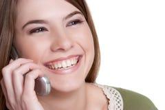 Muchacha del teléfono celular Foto de archivo libre de regalías