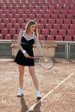 Muchacha del tenis. Fotos de archivo