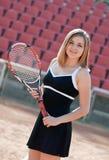 Muchacha del tenis. Imágenes de archivo libres de regalías