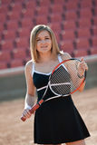 Muchacha del tenis. Fotografía de archivo libre de regalías