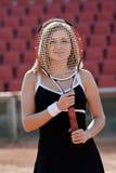 Muchacha del tenis. Fotografía de archivo