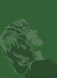Muchacha del texto Imagen de archivo libre de regalías