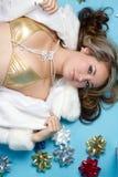 Muchacha del traje de baño del día de fiesta Foto de archivo libre de regalías