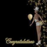 Muchacha del vector de Congratualtions Imágenes de archivo libres de regalías