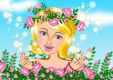 Muchacha del verano de la primavera ilustración del vector
