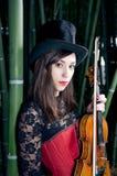 Muchacha del violín fotos de archivo libres de regalías