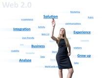 Muchacha del Web 2.0 Foto de archivo libre de regalías