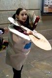 Muchacha del yogur - el carnaval Se viste-para arriba Fotografía de archivo libre de regalías