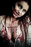 Muchacha del zombi Imagenes de archivo