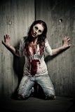 Muchacha del zombi Imagen de archivo libre de regalías