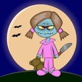 Muchacha del zombi Foto de archivo libre de regalías
