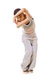 Muchacha delgada del salto de la cadera en danza Imagen de archivo libre de regalías
