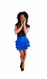 Muchacha delgada en falda Fotos de archivo libres de regalías