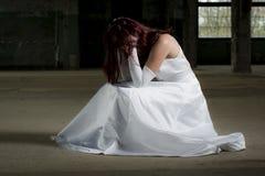 Muchacha deprimida Fotografía de archivo