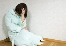 Muchacha deprimida Fotos de archivo libres de regalías