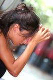 Muchacha desesperada/problemas adolescentes Foto de archivo