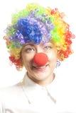 Muchacha divertida del payaso, femenina fotografía de archivo libre de regalías