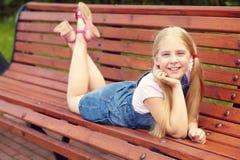 Muchacha divertida rubia Fotografía de archivo libre de regalías