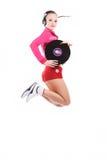 Muchacha DJ Foto de archivo libre de regalías