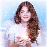 Muchacha dulce del ángel Imagen de archivo libre de regalías