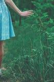 Muchacha dulce en bosque del verano Imagen de archivo libre de regalías