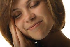 Muchacha durmiente del retrato Foto de archivo