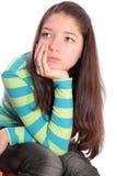 Muchacha el adolescente, aislado. Fotografía de archivo libre de regalías