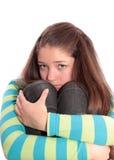 Muchacha el adolescente, aislado. Imágenes de archivo libres de regalías