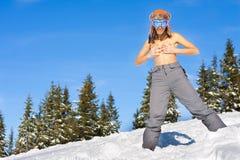 Muchacha el vacaciones del esquí Foto de archivo libre de regalías