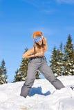 Muchacha el vacaciones del esquí Fotos de archivo