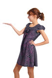 muchacha elegante en blanco Imagen de archivo libre de regalías