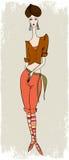 Muchacha elegante en traseros Fotografía de archivo libre de regalías