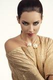 Muchacha elegante encantadora de la moda Fotografía de archivo
